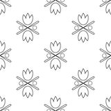 тюльпаны картины безшовные Стоковое Изображение RF