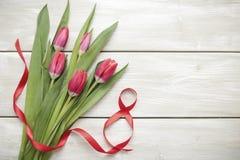 Тюльпаны 8-ого марта стоковое изображение rf
