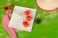 Тюльпаны томата Стоковое фото RF