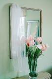 Тюльпаны & Bridal вуаль Стоковое Изображение