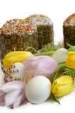 Тюльпан торта пасхального яйца Стоковая Фотография