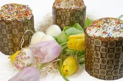 Тюльпан торта пасхального яйца Стоковое фото RF