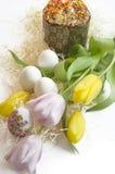 Тюльпан торта пасхального яйца Стоковая Фотография RF