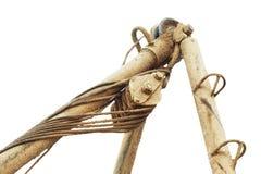 Тяга веревочки снасти блока шкива Стоковая Фотография RF