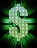 тягло символа сезона доллара Стоковое Изображение RF