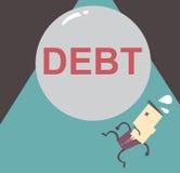 Тягота бизнесмена с файлом вектора дела иллюстрации задолженности Стоковые Изображения