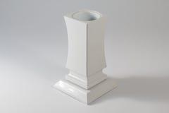 Тягчайшая ваза цветка сделанная камня стоковая фотография rf