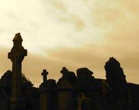 Тягчайшие отметки в кладбище Donegal Ирландии Donegal Стоковая Фотография RF