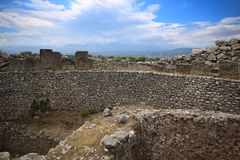Тягчайший круг в Mycenae стоковое фото