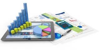 тягла финансового отчета принципиальной схемы вычислений бухгалтерии иллюстрация штока
