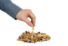Тяжелая курильщица стоковая фотография rf
