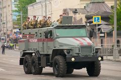Тяжелое военное транспортное средство Стоковое Изображение