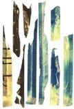 тяжело маскируя старая запятнанная лента Стоковое Фото