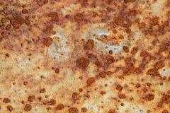 Тяжело рифленая рыжеватая металлопластинчатая текстура стоковое изображение