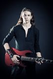 тяжелый метал гитариста Стоковые Фото