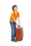 тяжелый чемодан Стоковая Фотография