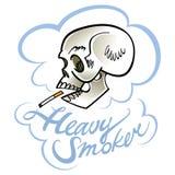 тяжелая курильщица Стоковое Изображение