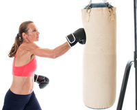 Тяжелая тренировка сумки Стоковое фото RF