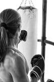Тяжелая тренировка сумки Стоковое Фото