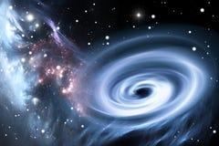 Тяжелая черная дыра Стоковое фото RF