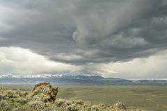 Тяжелые облака шторма над северным парком в Колорадо Стоковые Изображения