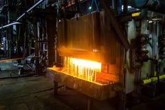 Тяжелый завод вковки Печь с занавесом воды Стоковая Фотография RF