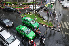 Тяжелый ливень затопляет Бангкок Стоковое Фото