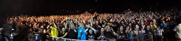 Тяжелый метал, рок-концерт в реальном маштабе времени стоковая фотография rf