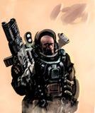 Тяжелый морской пехотинец космоса Стоковые Изображения RF
