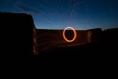 Тлеющие угли искры Стоковое фото RF