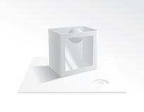 тhe magic box. тransparent magic box in shades of gray, eps 8 Royalty Free Stock Photos