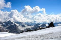 Убежище 11, гора Elbrus Кавказа России Стоковое Изображение