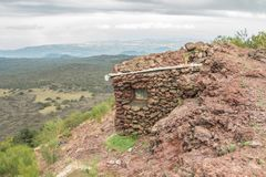 Убежище на вулкане Этна в Сицилии стоковые изображения rf