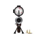 Убийство и пуля снайпера Стоковые Изображения RF