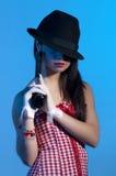 убийца девушки стоковое изображение