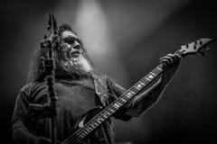 Убийца, тяжелый метал 2017 в реальном маштабе времени концерта Тома Araya Стоковое Изображение