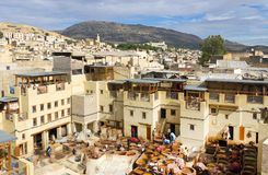 дубильни Марокко fes Африки Стоковые Фото