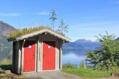 Уборный в Норвегии стоковые фотографии rf