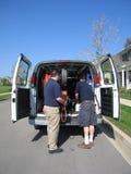 уборщики ковра разгржают фургон Стоковые Фото