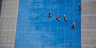 Уборщик на небе Стоковое фото RF