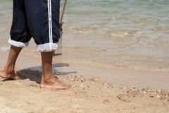 уборщик пляжа Стоковое фото RF