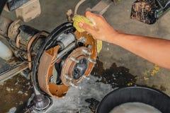 Уборщик тормоза стоковое изображение rf