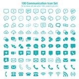 дублирование красит комплект связи включенный иконой Стоковое фото RF