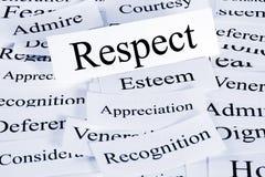 уважение принципиальной схемы Стоковая Фотография