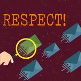 Уважение текста сочинительства слова Концепция дела для чувствовать глубокого восхищения для кто-то или что-то благодарность бесплатная иллюстрация