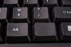 Увеличенная клавиатура компьютера Черные кнопки клавиатуры для co Стоковая Фотография RF