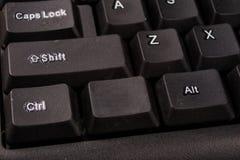 Увеличенная клавиатура компьютера Черные кнопки клавиатуры для co Стоковое Изображение RF