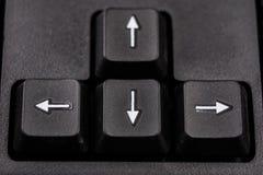 Увеличенная клавиатура компьютера Черные кнопки клавиатуры для co Стоковые Фотографии RF