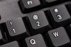 Увеличенная клавиатура компьютера Черные кнопки клавиатуры для co Стоковые Изображения RF
