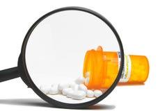 увеличиванный рецепт лекарства Стоковые Изображения RF
